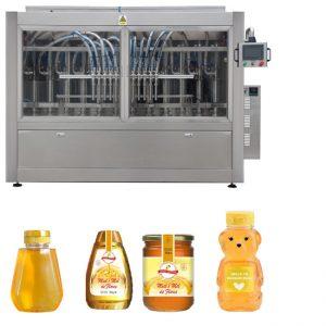 مكبس مضاعفات أوتوماتيكي نوع صلصة عسل المربى عالية اللزوجة السائل ملء السد خط آلة وسم